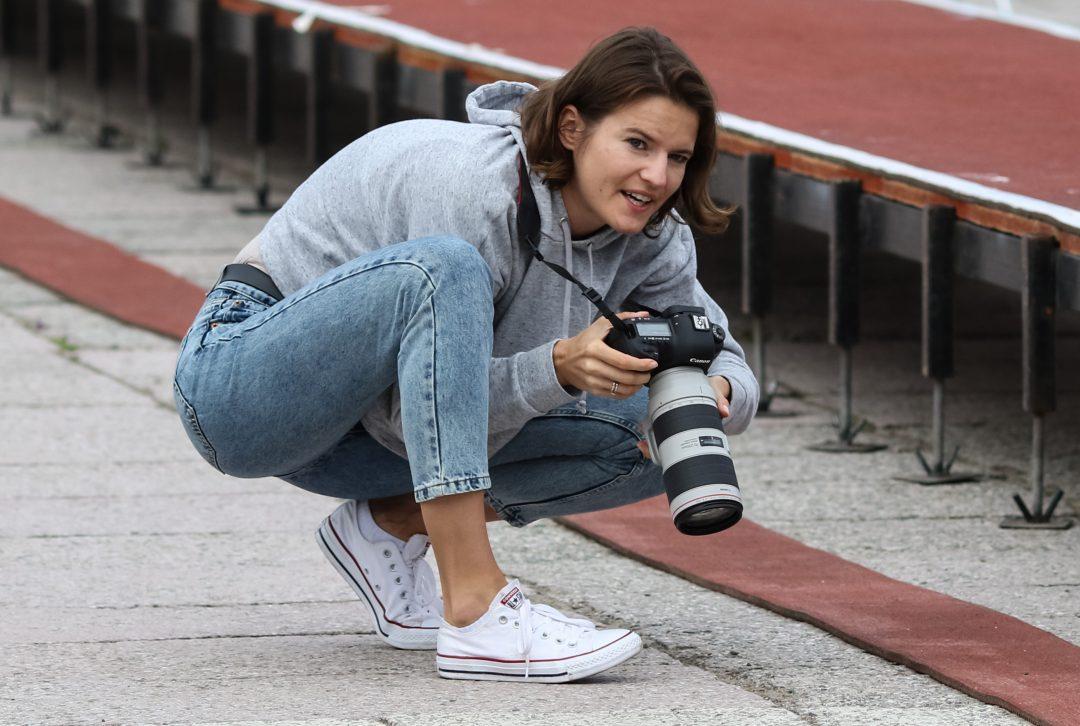 Anna Jagaciak-Michalska – z aparatem na bieżni