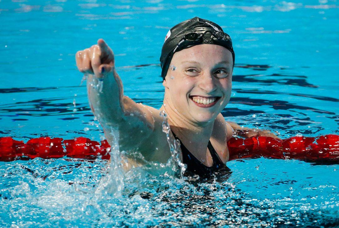 Katie Ledecky i jej pierwsza poważna rywalka